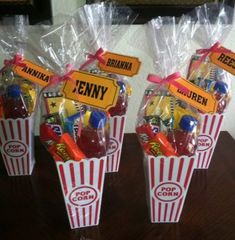 movie party New Ideas For Birthday Party Themes Sleepover Birthday Parties, Carnival Birthday Parties, Birthday Favors, Birthday Party Themes, Birthday Ideas, Hollywood Birthday Parties, Birthday Gifts, Teen Party Favors, Carnival Party Favors