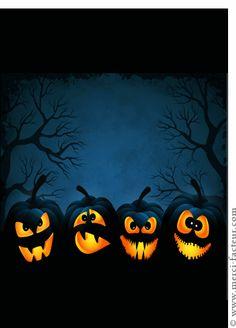 Carte Les vilaines citrouilles d'Halloween pour envoyer par La Poste, sur Merci-Facteur !