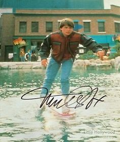 Michael-J-Fox-from-BTTF-2-8X10-Autographed-RP-lustre-Photo Michael J Fox, Bttf, Movie Photo, Back To The Future, Hollywood, Movies, Photos, Ebay, Films