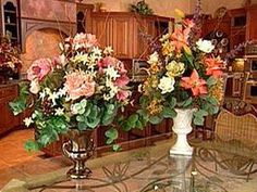Large Floral Displays - Nothing adds elegance and style to a table like a huge floral arrangement. Learn how easy it is to make a dramatic statement using artificial flowers.