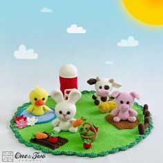 Meet Quackers (the Duck) Snowy (the Bunny) Clyde (the Cow) and Pinky (the Pig)…