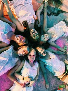 Color run - Friends - Color throw - Colored friends - Woooo