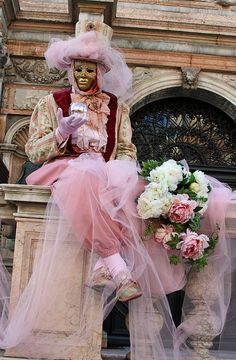 Colorful costumes and masks in the 2010 Carnevale in Venice (IMG_8871a) by Alaskan Dude, via Flickr