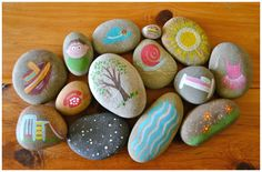 Story Stones Ideas - Painted Story Stones #art #stones #kids www.beyc.co.th/blog