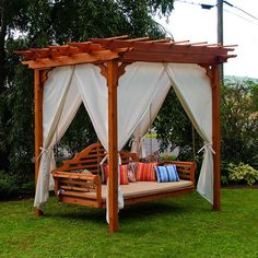 pergola with bed swing | this package includes 1 x porch swing 1 x swing stand 1 x standard ...