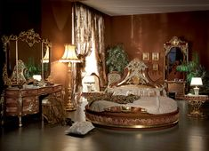 italian furniture | Italian Bed Room in Round Shape - Top and Best Classic Furniture and ...