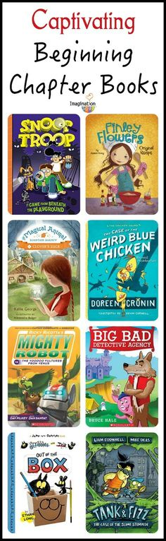 New & Captivating Beginning Chapter Books for 1st and 2nd grade readers (6- and 7- year olds)