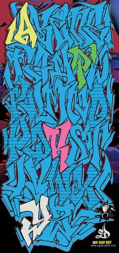 Wild Colorz | Graffiti Alphabet
