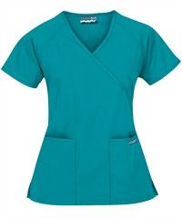 Butter-Soft Scrubs by UA™ Solid Mock Wrap Top