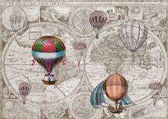 steampunk map spoonflower