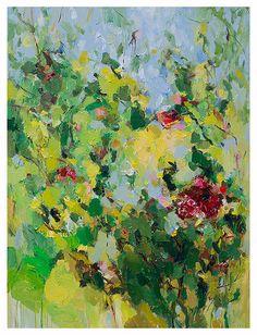 art print - giclee -16x20 - from original oil painting-Poppy 2- poster- wall decor- wall art- garden