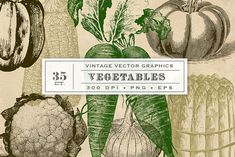 Vintage Vegetable Garden Graphics