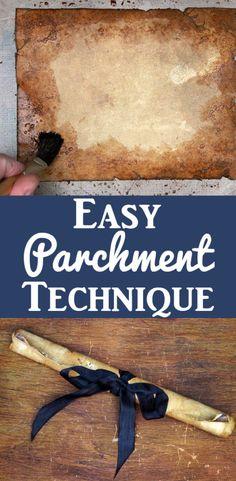 Easy Ancient Parchment Technique