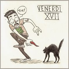 Claudio Naccari - M'ink: Venerdì 17 - INKtober DAY #17