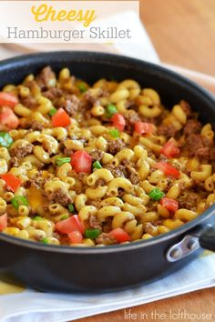 """Cheesy Hamburger Skillet and The """"Southern Bite"""" Cookbook Giveaway! - Life In The Lofthouse"""