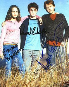 Original #harry #potter #signed cast photo x 3 / watson radcliffe grint / mid-200,  View more on the LINK: http://www.zeppy.io/product/gb/2/111947781956/