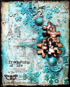 "Mixed Media Collage Canvas Tutorial ""Fragments"" by Sanda Reynolds www.artfulflig… Sponsored Sponsored Mixed Media Collage Canvas Tutorial ""Fragments"" by Sanda Collage Kunst, Art Du Collage, Collage Art Mixed Media, Mixed Media Canvas, Canvas Collage, Diy Canvas, Mixed Media Boxes, Mixed Media Journal, Painting Collage"