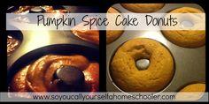 Pumpkin Spice Cake Donuts {Recipe}