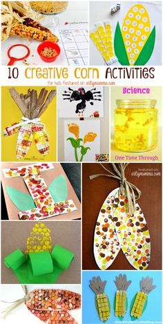10 Corn Themed Activities for Thanksgiving 10 Creative Corn Painting, Math Science, & Crafts Thanksgiving Crafts For Kids, Thanksgiving Activities, Crafts For Kids To Make, Holiday Crafts, Corn Thanksgiving, Harvest Crafts For Kids, Kids Diy, Harvest Activities, Autumn Activities For Kids