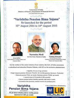 LIC of India new Varishtha Pension Bima Yojana will be launched on Independence Day.Varishtha Pension Bima Yojana is guaranteed pension plan.
