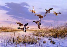 """That Special Time"" MallardsArtist Proof Edition of 150 - 18"" x 26"" -Waterfowl Paintings Original Waterfowl Paintings by Jim Killen - Waterfowl Paintings by Jim Killen"