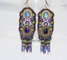 """grandes boucles d'oreille ethniques kyanite """" Esmeralda allegoria"""" : Boucles d'oreille par esther-willer"""