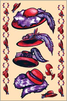 Red Hat Society Art -.