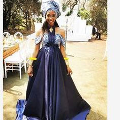 Lovely Zulu Traditional Dresses&Shweshwe Attires In 2020 African Traditional Dresses, Prom Dresses, Formal Dresses, Zulu, African Wear, Piece Of Clothing, Wedding Suits, Couture, How To Wear