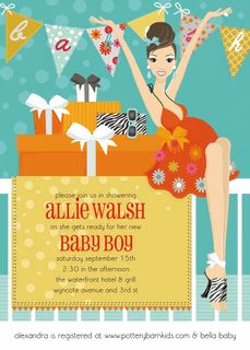 Baby Banner - Blue Invitations