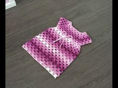 Vestidito granny super facil tejido a crochet - YouTube