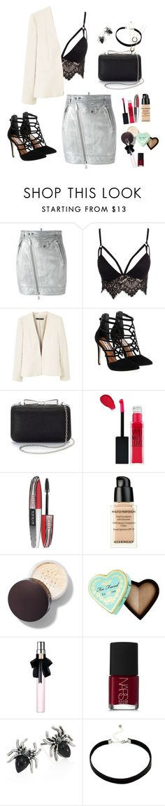 """""""Untitled #23"""" by rockgirl99 ❤ liked on Polyvore featuring Dsquared2, Club L, MANGO, Steve Madden, La Regale, Maybelline, L'Oréal Paris, Givenchy, Too Faced Cosmetics and Yves Saint Laurent"""