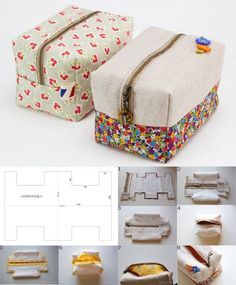 Sewing machine bag couture 39 new Ideas Sewing Hacks, Sewing Tutorials, Sewing Crafts, Makeup Bag Tutorials, Diy Makeup Bag, Sewing Diy, Bag Patterns To Sew, Sewing Patterns, Pattern Sewing