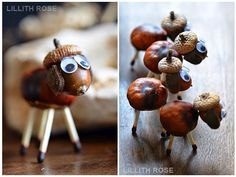 Creative with children: chestnut season (from hand to hand) - Fall Crafts For Kids Fall Arts And Crafts, Autumn Crafts, Fall Crafts For Kids, Nature Crafts, Art For Kids, Diy And Crafts, Christmas Crafts, Summer Crafts, Easter Crafts