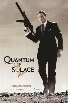 Quantum of Solace - (2008) Seeking revenge for the death of his love, secret agent James Bond sets out to stop an environmentalist from taking control of a country's valuable resource.