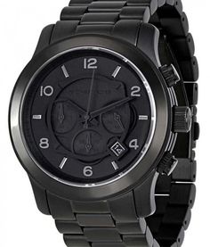 e59d4e6eee Michael Kors Blacked Out Runway Chronograph MK8157 Mens Watch