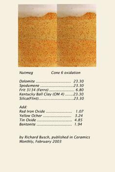 Nutmeg glaze, cone 6 oxidation
