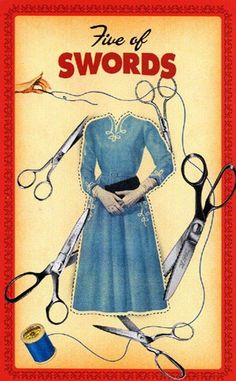Card of the Day - 5 of Swords - Friday, January 5, 2018