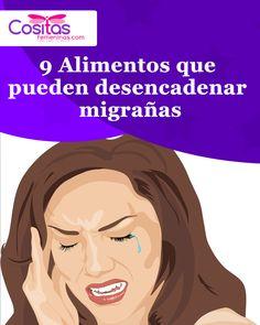 9 Alimentos que pueden desencadenar migrañas #migraña #alimentos #migrana Memes, Movie Posters, Wellness, Tips, Foods, Salud, Life, Meme, Film Poster