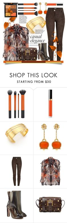 """""""Casual Elegance... Styling With Chocolate & Rust"""" by helenaymangual ❤ liked on Polyvore featuring Chanel, TomTom, Chantecler, Jitrois, Givenchy, adidas Originals, Valentino and MAC Cosmetics"""