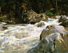 """""""A Torrent in Norway"""" by John Singer Sargent, 1901"""