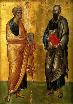 Апостолы Петр и Павел. Византия, XIV век Православные мастерские «Русская икона»
