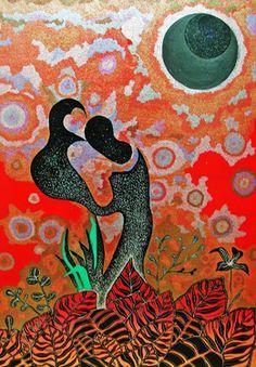 """Saatchi Online Artist Sophia Kim; Painting, """" 香月歌"""" #art"""
