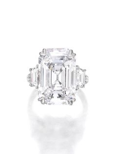 8 Magnificent Jewels that Sold for More than $1 Million | Sotheby's: 11.51 carat emerald-cut diamond sold for a bit over $1 million.
