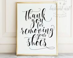 Shoes off sign PRINTABLE arttake shoes off by TheCrownPrints