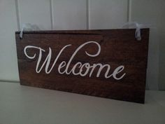 Welcome wedding sign Wedding Signs, Ash, Party, Home Decor, Wedding Plaques, Grey, Fiesta Party, Room Decor, Wedding Tags