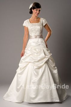 Cosima - Wedding Dress from Latter Day Bride Really like the bunched ruffles.