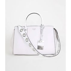 Guess Loree Purse - Grey/Pink (€81) ❤ liked on Polyvore featuring bags, handbags, pink bag, hand bags, pink purse, guess bags and grey purse