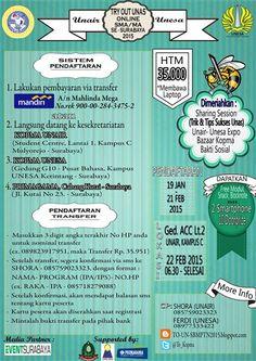 Unair – Unesa Proudly Present : Try Out Unas Online SMA / MA Se-Surabaya 2015 22 Februari 2015 At Gedung ACC Lt. 2 Universitas Airlangga, Kampus C – Surabaya 06.30 – Selesai  http://eventsurabaya.net/try-out-unas-online-sma-ma-se-surabaya-2015/