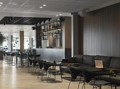 Quality Airport Hotel Stavanger design by Sias Shoe Store Design, Airport Hotel, Stavanger, Table And Chairs, Interior Architecture, Pond, Projects, Hotels, Furniture