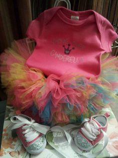 Move over Cinderella new Princess in town! Custom made tutu set by: Danika Vaughn